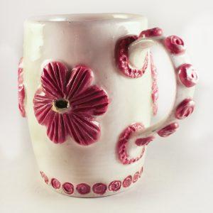 Flower & Spiral Mug - SOLD