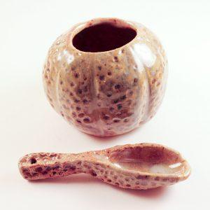 Ochre Urchin Bowl w/ Spoon