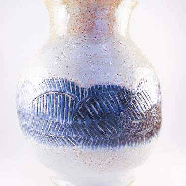 Vessel Vase with Sgraffito