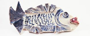 A Favorite Blue Fish Platter