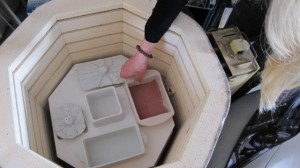 Loading the Kiln for Glaze Firing