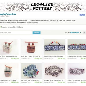 Legalize Pottery Shop on Etsy.com