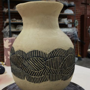 Vases Made with Slabs and Coils