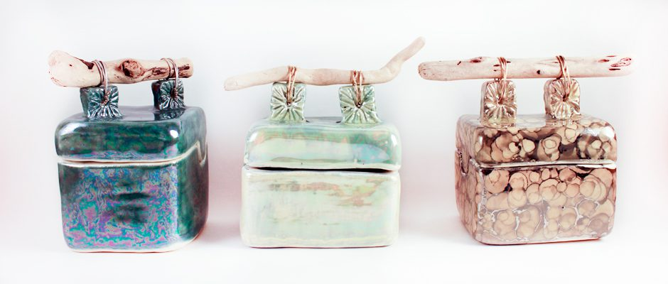 Ceramic Driftwood Boxes
