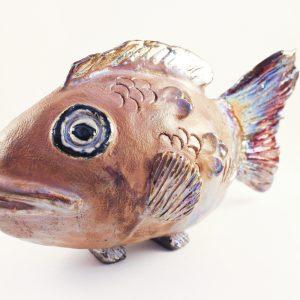 Sculpture Fish #3 - Raku Fired