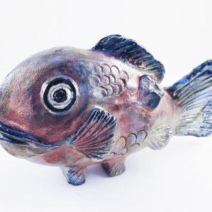 Sculpture Fish #2 - Raku Fired - SOLD