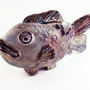 Sculpture Fish #4 - Raku Fired